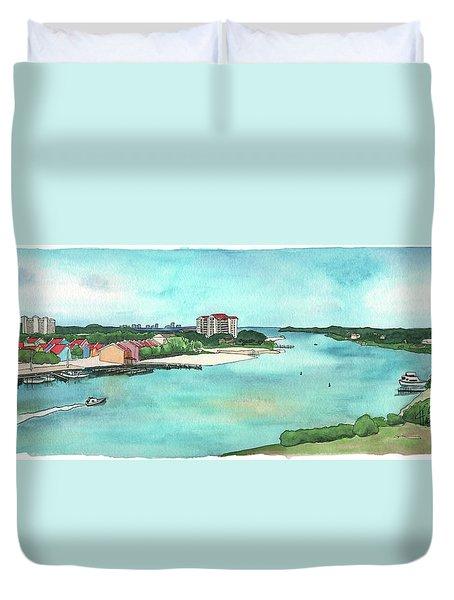 Perdido Key River Duvet Cover