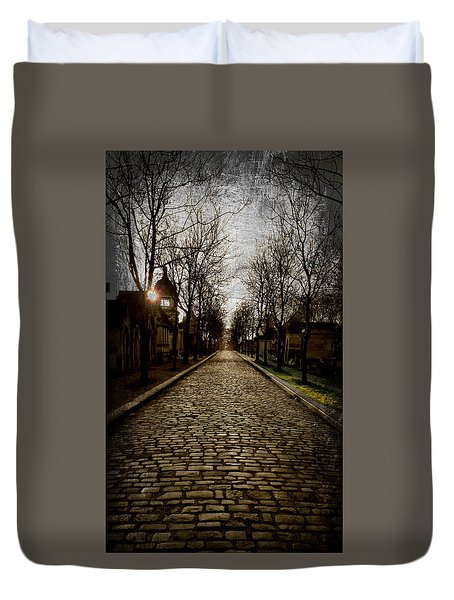 Pere Lachaise Cemetery Road 2 Duvet Cover
