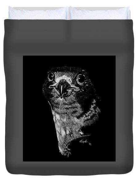 Peregrin Falcon Duvet Cover