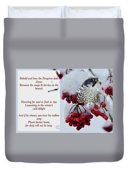 Peregrine Song Duvet Cover