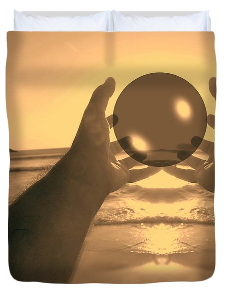 Duvet Cover featuring the photograph Perfect Circle by Beto Machado