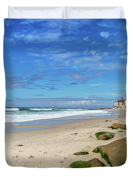 Duvet Cover featuring the photograph Perfect Day At Horseshoe Beach by Peter Tellone