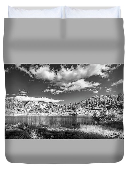 Duvet Cover featuring the photograph Perfect Lake At Mount Baker by Jon Glaser