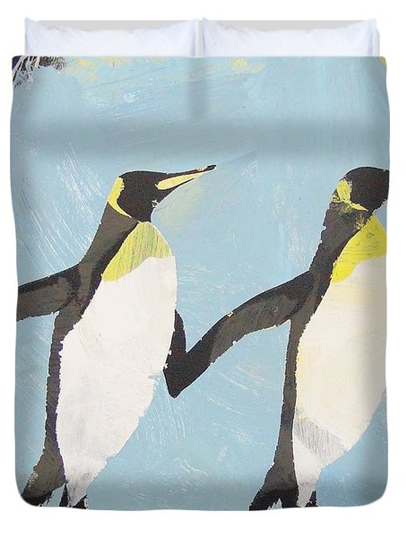 Perfect Penguins Duvet Cover
