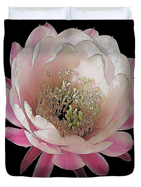 Perfect Pink And White Cactus Flower Duvet Cover
