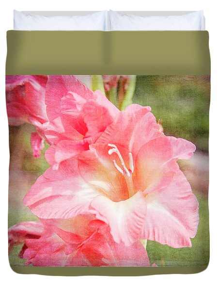 Perfect Pink Canna Lily Duvet Cover by Toni Hopper