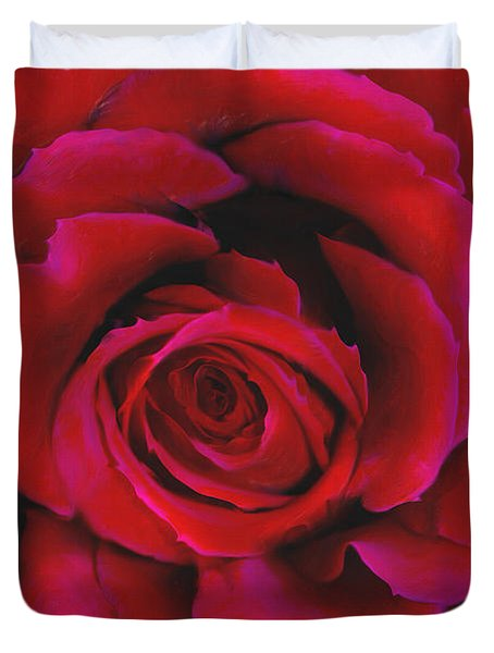 Perfect Rose Duvet Cover by Joel Payne