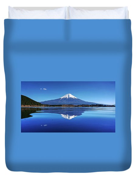 Duvet Cover featuring the photograph Perfect Shape, Perfect Blue by Peter Thoeny