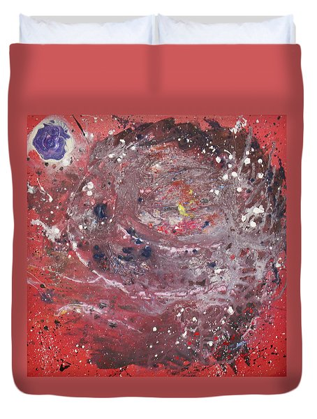 Duvet Cover featuring the painting Perfect Storm by Michael Lucarelli