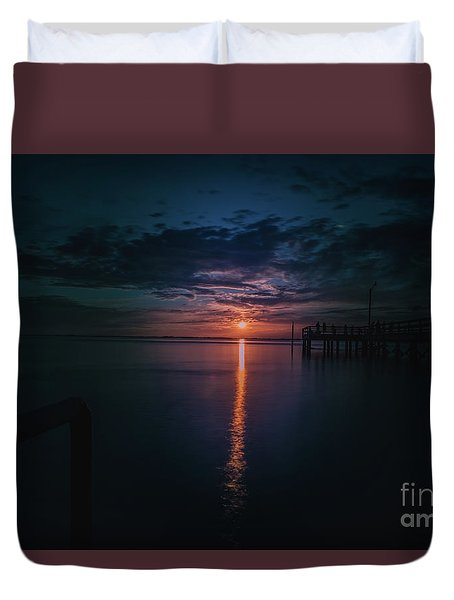 Perfect Sunset Duvet Cover by Jim  Hatch
