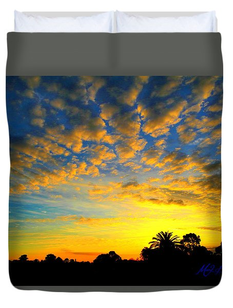 Perfect Sunset Duvet Cover by Mark Blauhoefer