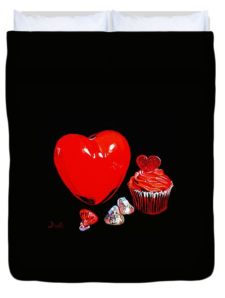 Perfect Valentine Sweets No Calories Duvet Cover