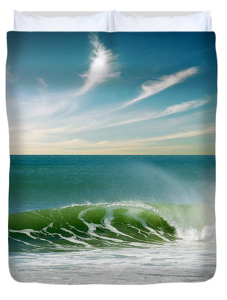 Perfect Wave Duvet Cover by Carlos Caetano