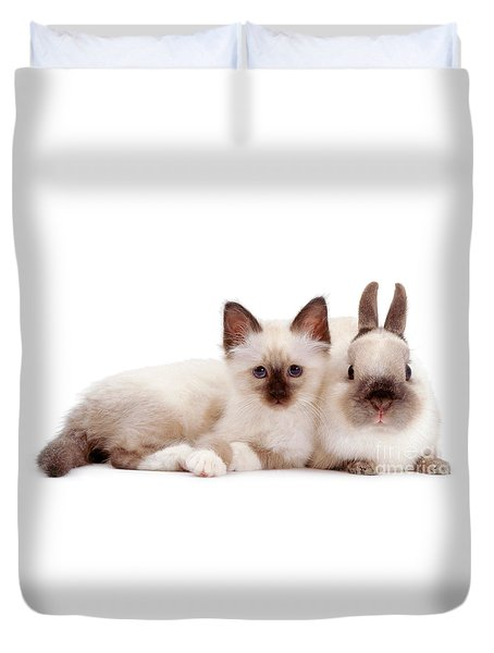 Perfectly Paired Pals Duvet Cover