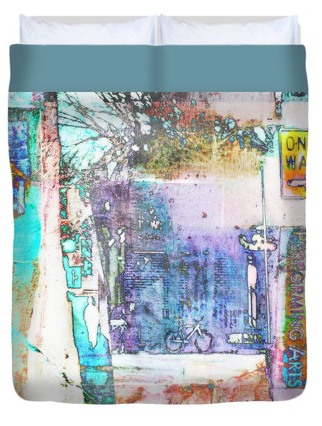 Duvet Cover featuring the photograph Performance Arts by Susan Stone