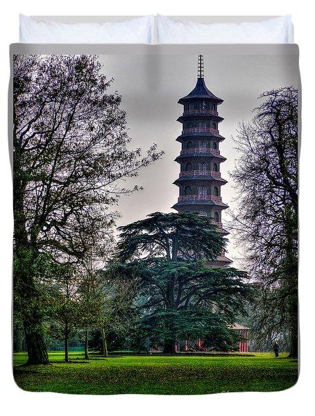 Pergoda Kew Gardens Duvet Cover