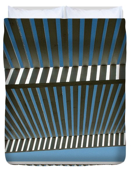 Pergola Bottom Duvet Cover by Stan Magnan