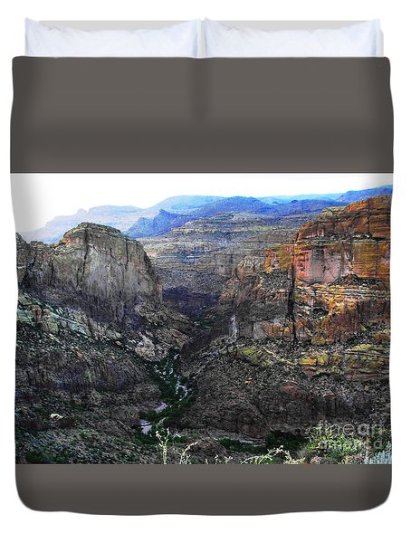 Perilous U.s. Route 88 Duvet Cover by Natalie Ortiz