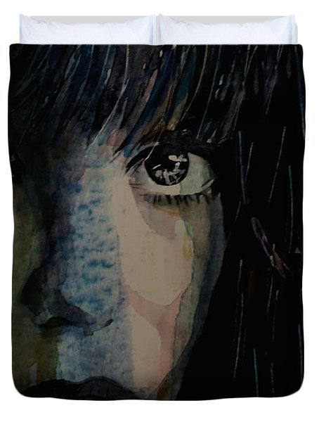 Duvet Cover featuring the painting Periode Bleue by Paul Lovering