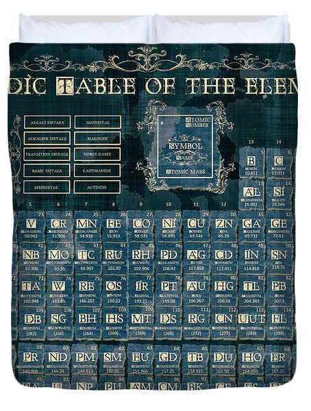 Periodic Table Of The Elements Vintage 4 Duvet Cover