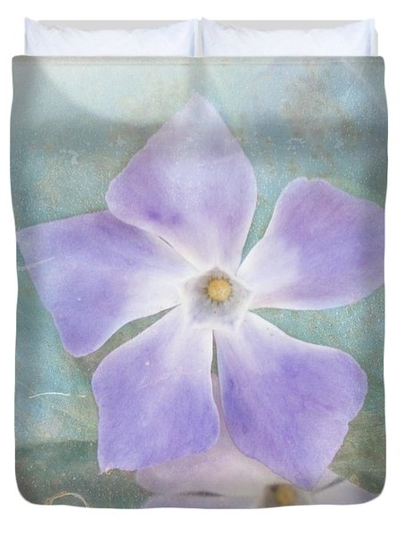 Periwinkle Stars Duvet Cover by Cindy Garber Iverson