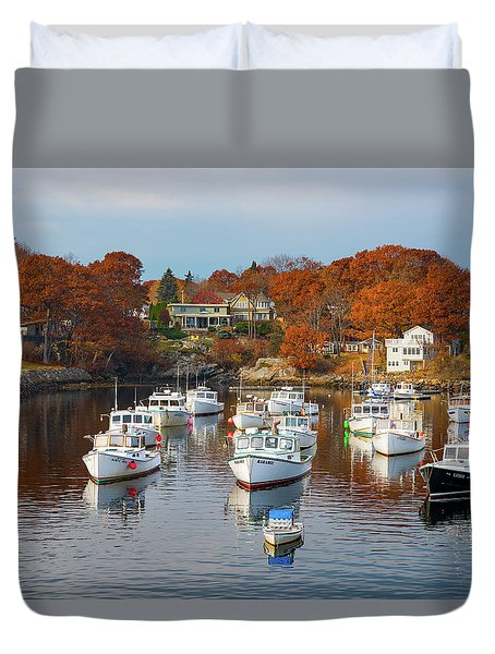 Duvet Cover featuring the photograph Perkins Cove by Darren White