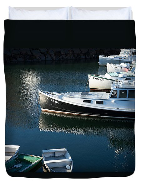 Perkins Cove Lobster Boats One Duvet Cover