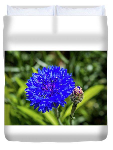 Perky Cornflower Duvet Cover