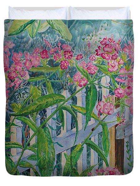 Perky Pink Phlox In A Dahlonega Garden Duvet Cover