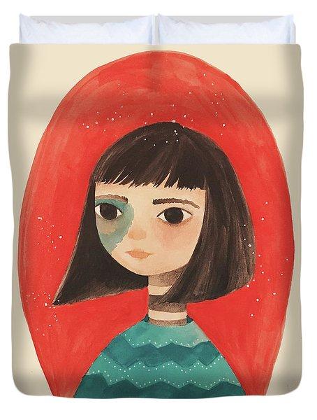 Permanent Contemplation Duvet Cover by Carolina Parada