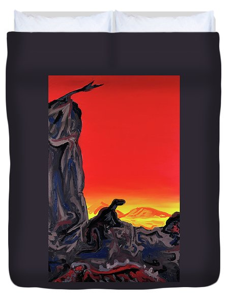 Permian Outpost Duvet Cover by Ryan Demaree