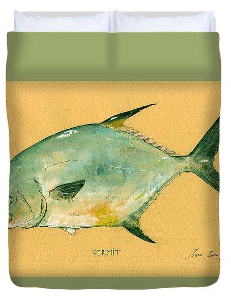 Permit Fish Duvet Cover