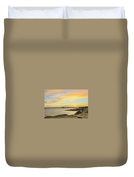 Perranuthnoe At Sunset  Duvet Cover