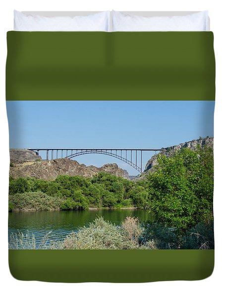 Perrine Bridge At Twin Falls Duvet Cover
