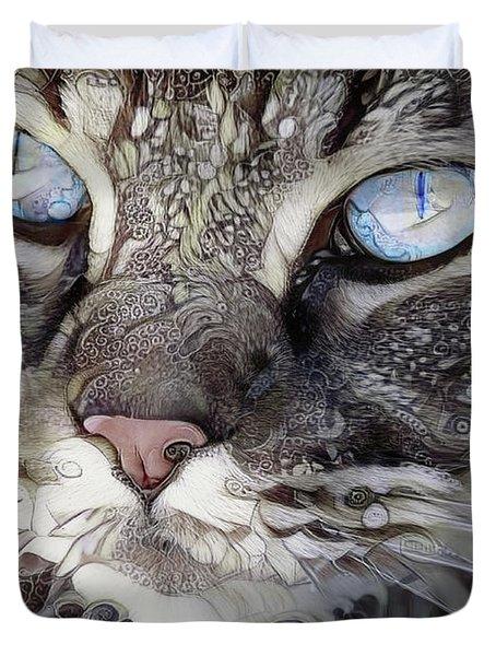 Perry The Persian Cat Duvet Cover
