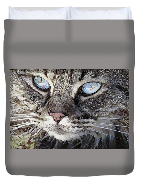 Perry The Persian Cat Duvet Cover
