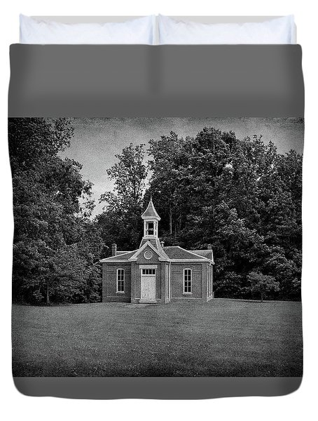 Perry Township School No. 3 B W Duvet Cover