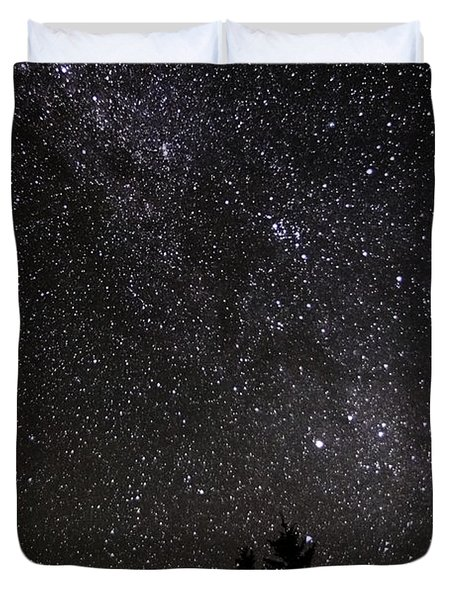 Perseid Meteor And Milky Way Duvet Cover