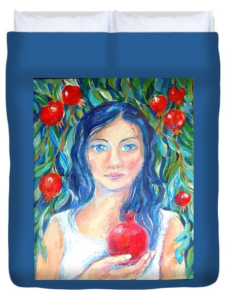 Persephone And Pomegranates  Duvet Cover