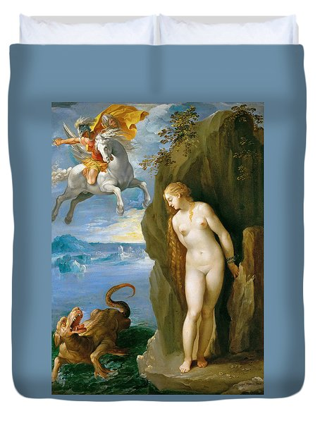 Perseus And Andromeda Duvet Cover