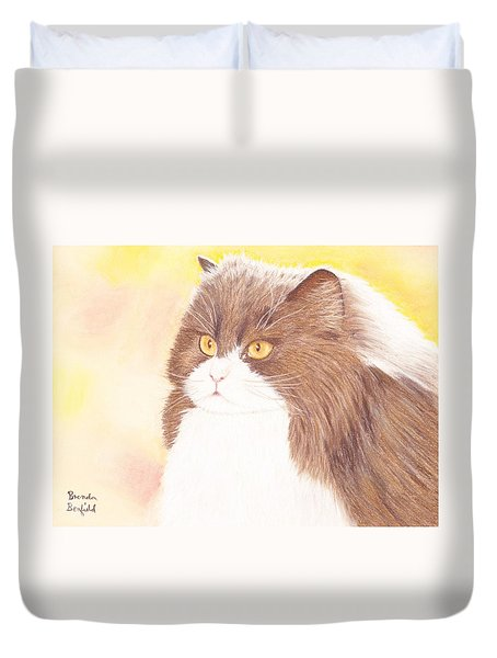 Persian Kitty Duvet Cover