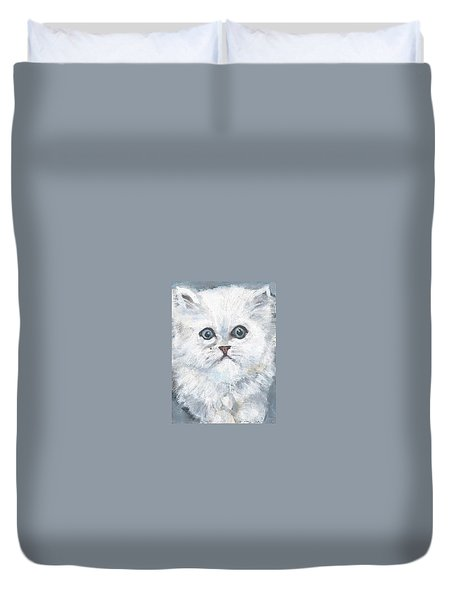 Persian Kitty Duvet Cover by Jessmyne Stephenson