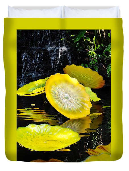 Persian Lily Pads Duvet Cover