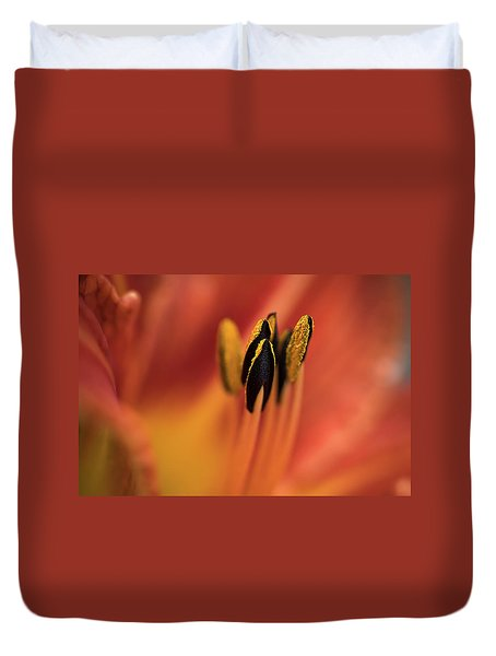 Persimmon Lilly Duvet Cover