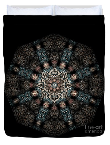 Duvet Cover featuring the digital art Persnickety Palpitations Of Magnificent Malformations by Rhonda Strickland