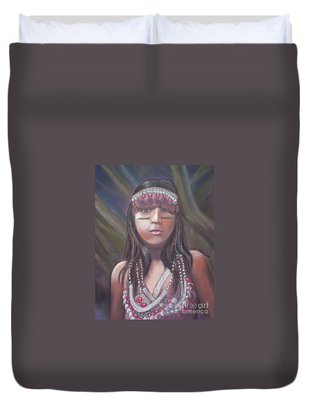 Peruvian Girl Duvet Cover by Julie Brugh Riffey