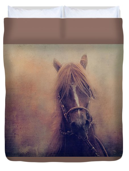 Duvet Cover featuring the photograph Peruvian Horse by Toni Hopper