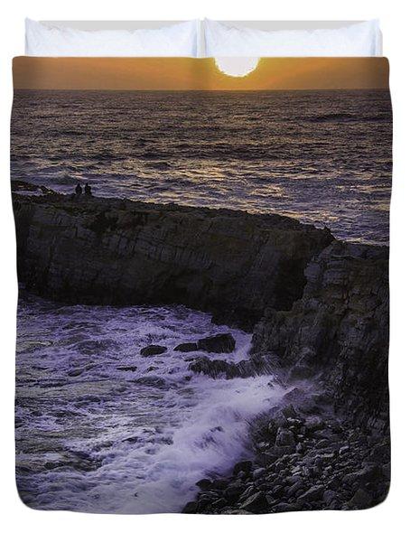 Pescadero Sunset Duvet Cover