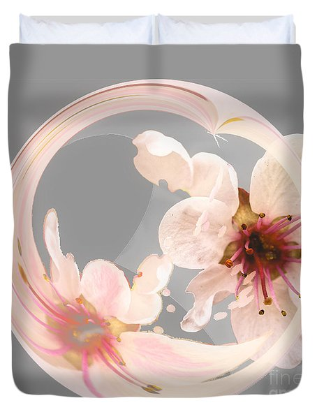 Petal Play Duvet Cover by Nancy Marie Ricketts