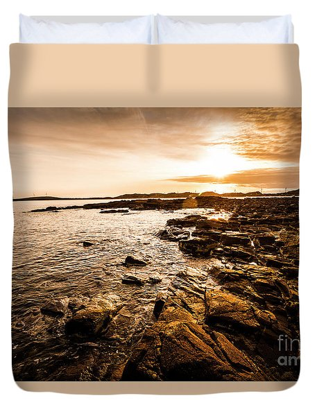 Petal Point Ocean Sunrise Duvet Cover